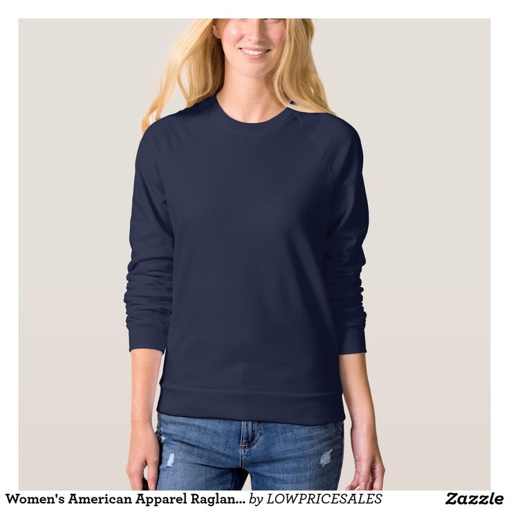 Women's American Apparel Raglan Sweatshirt 5 color