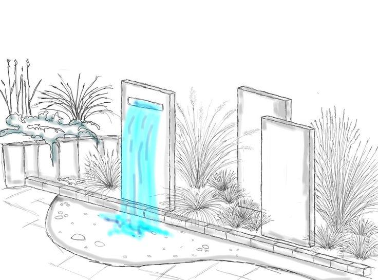 Stelen sind als Sichtschutz zur Zeit sehr beliebt…sie geben dem Garten ein modernes Flair. Der monumentale Stein und filigrane Gräsern ergeben wunderbare Kontraste. Und mit einem Wasserfall wird der Sichtschutz zum eleganten Blickfang ….
