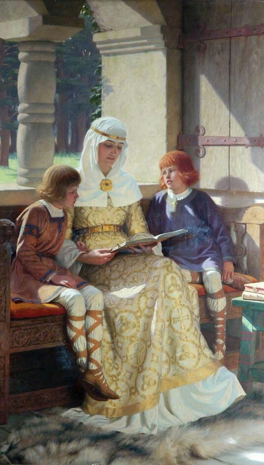 The Boyhood of Alfred the Great (1913). Edmund Blair Leighton