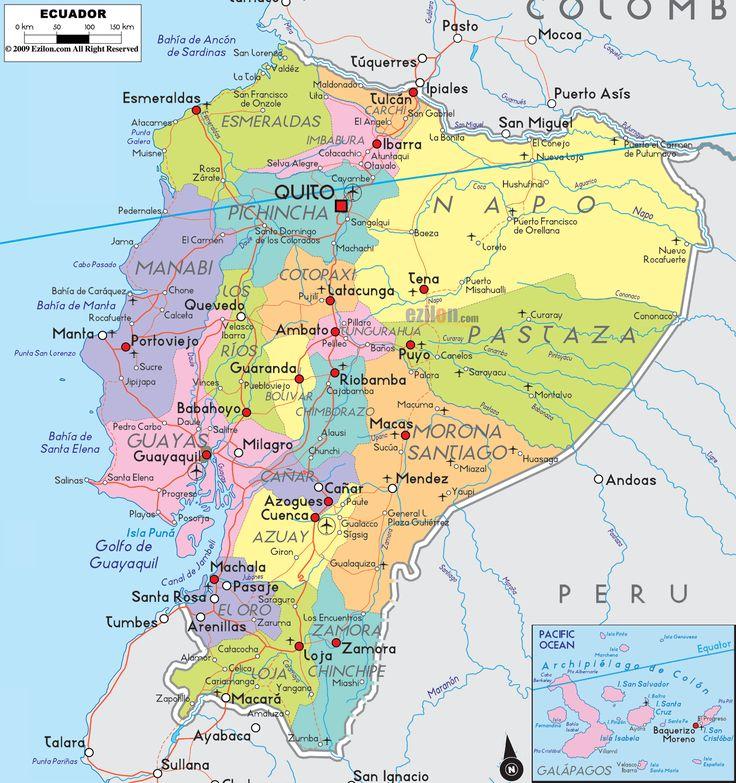 Best Ecuador Map Ideas On Pinterest Map Of Colombia Peru - Ecuador map south america