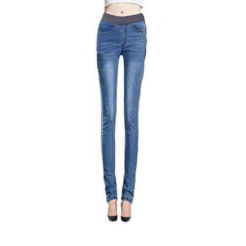 7846f02a2faff mayarayli Women s Winter Plus Size Fleece Lined Jeans High Waist Slim Fit  Stretch Skinny Denim Jeans Pants for Women