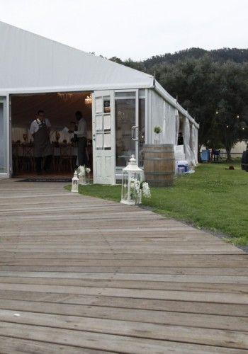 Gold Coast Wedding Reception Venue- Marquee Wedding Hire- Oreillys Vineyard. Book your wedding in the deluxe Wedding Marquee http://www.mrandmrsmarquee.com.au