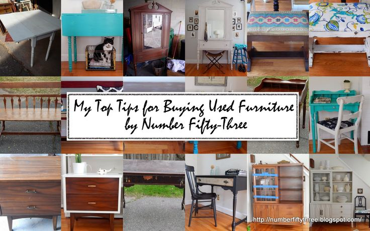Number Fifty-Three: My Top Tips for Buying Used Furniture