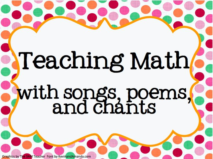 Primary ages students love learning through songs! Here are some resources for teaching with songs and chants:   Lory Evan's Math Songs ...