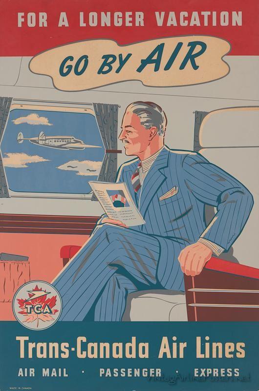 Vintage travel poster - Canada