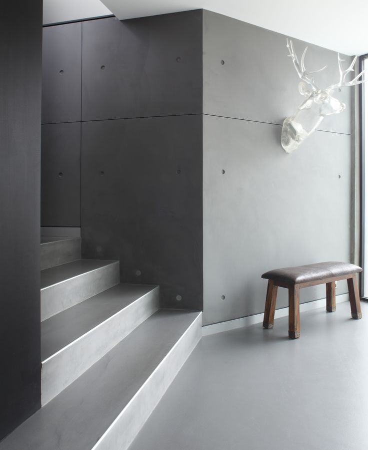 panDOMO Wall & Floor polished cement installed by HoneStone.com.au in Paddington penthouse.