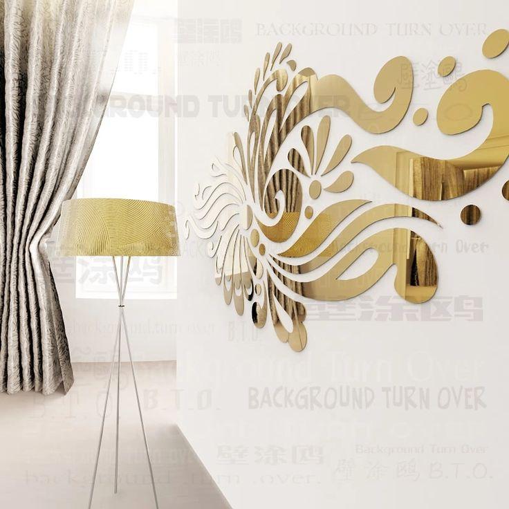 Творческий богемия этническая тотем акриловое зеркало спальня декор 3d отделка стен гостиной клей на уолл-зарядное SGY-228