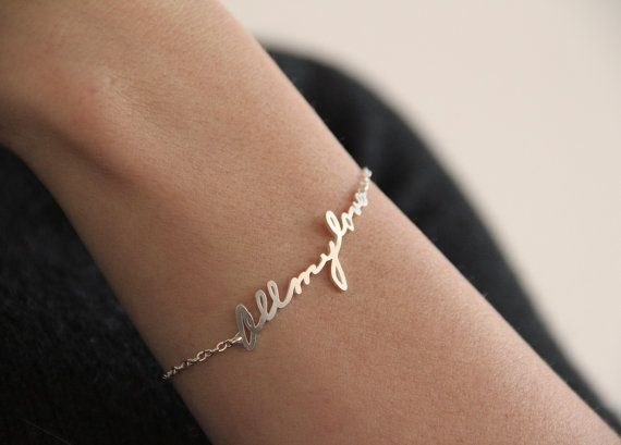 Signature Bracelet from your handwriting on Etsy. Sweet gift.