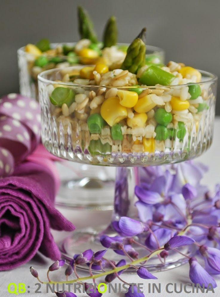Q B Le ricette light: Insalata di primavera con riso, avena e grano