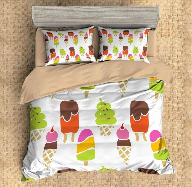 3D Customize Ice Cream Bedding Set Duvet Cover Set Bedroom Set Bedlinen 1)100% Microfiber,Soft and Comfortable. 2)Environmental Dyeing,Never Lose Color. 3)2017 Newest Design,Ice Cream,Fashion and Personality.