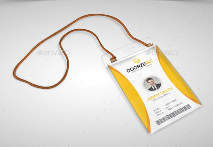 Office id card design id badge pinterest card templates for Work badges template