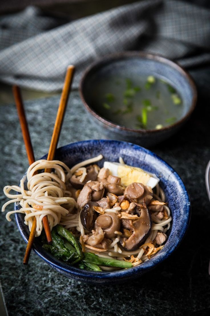 Noodles with Chicken and Mushroom (Mie Ayam Jamur)