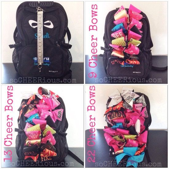 so CHEERious CHEER BOW Backpack Strap by soCHEERiousCHEERbows, $20.00