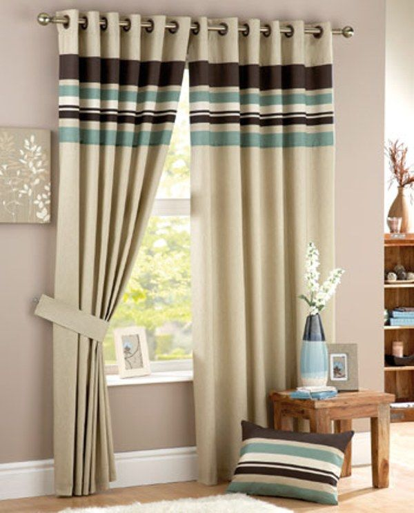 20 Modern Living Room Curtains Design - cortinas combinando com almofadas