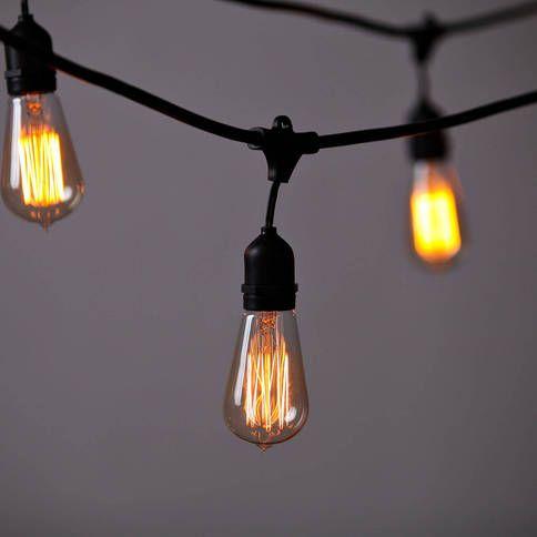 Use badge hooks to hang lights on awning
