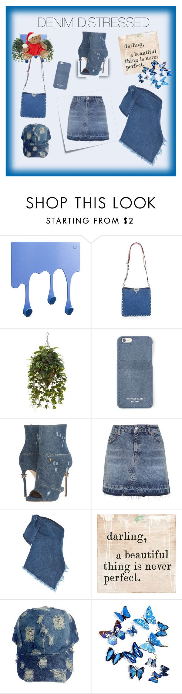 """Denim Distressed"" by donnyprabowo ❤ liked on Polyvore featuring Pulpo, Valentino, MICHAEL Michael Kors, Dsquared2, Post-It, Topshop, Marques'Almeida and Sugarboo Designs"