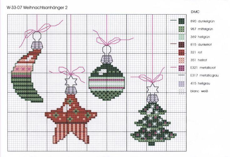 Cross-stitch Christmas ... Gallery.ru / Фото #1 - W-33-07 Weihnachtsanh - mantecada