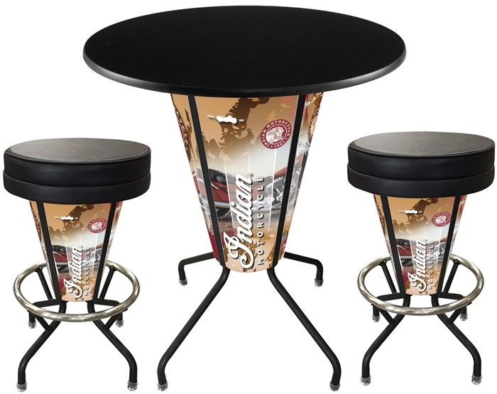Indian Motorcycle Wrap D1 Black Lighted Pub Table Set. Two additional Stools are optional.  sc 1 st  Pinterest & 90 best Indian Motorcycle images on Pinterest | Indian motorcycles ... islam-shia.org