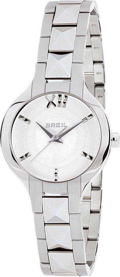 Breil zilverkleurig Dameshorloge 'Kate' TW1464. Dit Dameshorloge heeft een zilverkleurige kast en een zilverkleurige band. Deze band heeft een haaksluiting. Voorzien van een horlogeband met studs en een subliem afgewerkte witte wijzerplaat met accenten. Werkelijk een plaatje van een horloge.  #watch #breil #trendy #steel https://www.timefortrends.nl/horloges/breil/dames.html