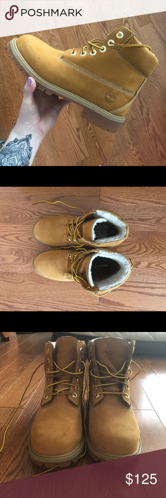"""Timberland Boots Nubuck wheat Timberland waterproof boots only worn TWICE. 6"""" style   These are size women's 6.5 but I generally wear a 7 and they fit me well. Timberland Shoes Winter & Rain Boots"""