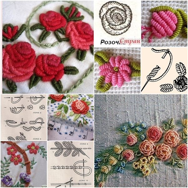 3D Thread flower embroidery