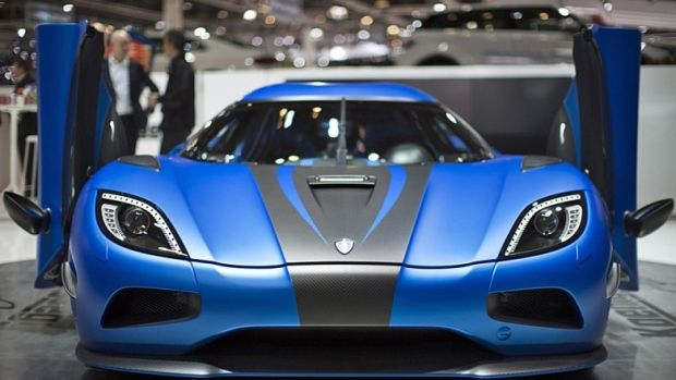 A Koenigsegg Agera 2 is displayed at the Swedish exotic car maker's booth during the first media day of the Geneva Auto Show. Calgary will get the only Canadian retail outlet through Lamborghini Calgary.  (Valentin Flauraud/Reuters)
