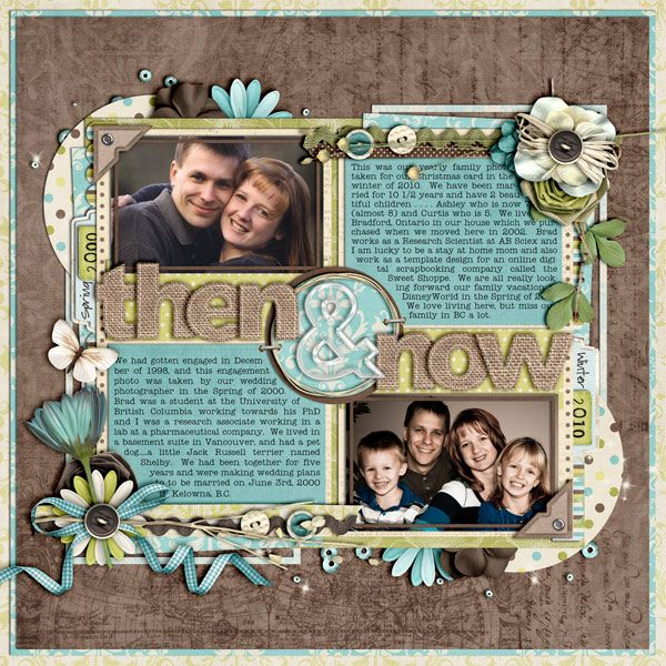 Then and Now - Scrapbook.com. Awesome idea and great design. Love it!!