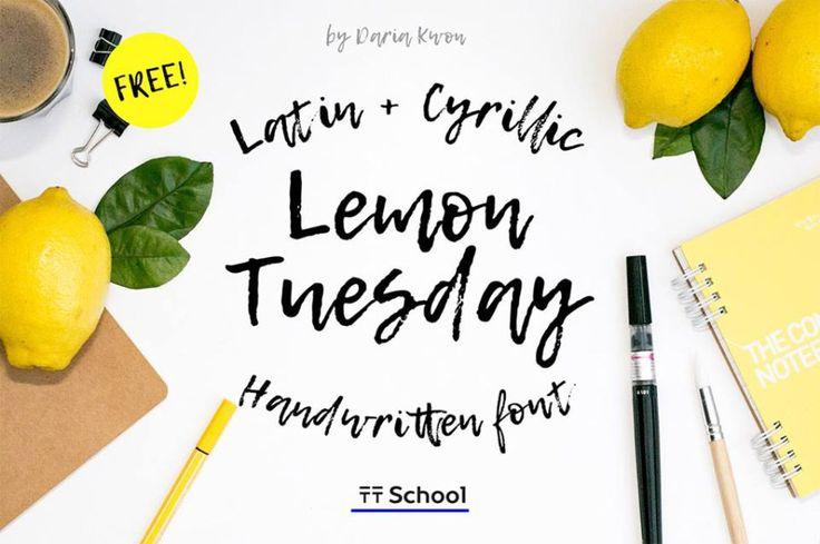 Lemon Tuesday Handwritten Font