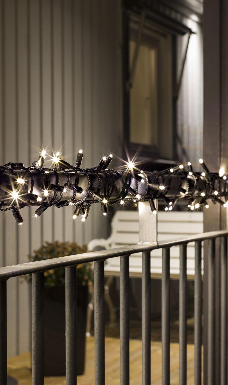 Mini-Lichterketten mit schwarzem Kabel und 40 Birnen