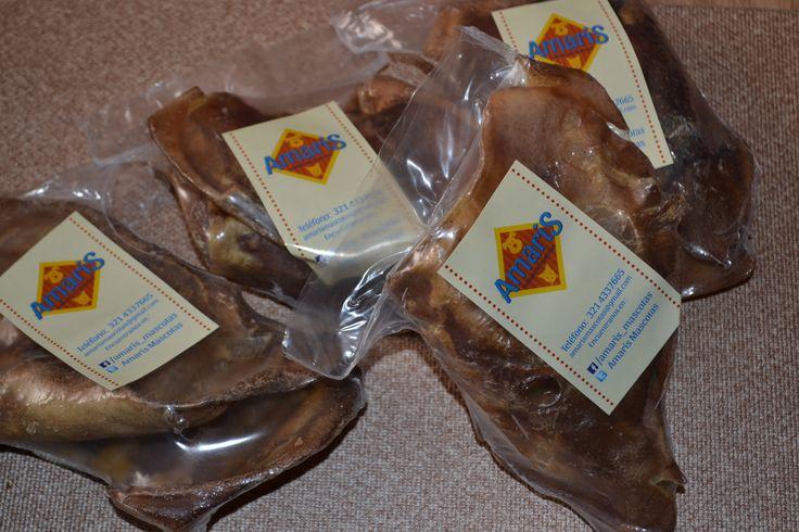 Deliciosas orejas de cerdo tostadas