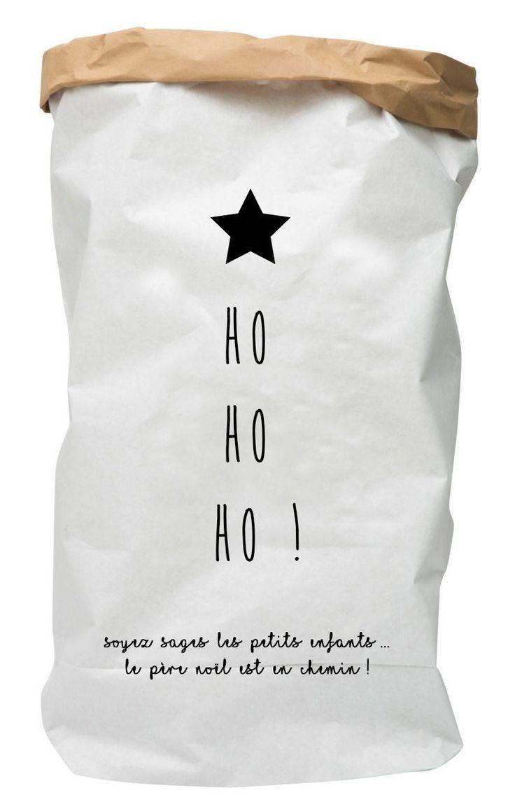 Rangement en papier kraft - paperbag - La jolie hotte du Père Noel à mettre au pied du sapin ! personnalisable : Meubles et rangements par suite-creative-babies