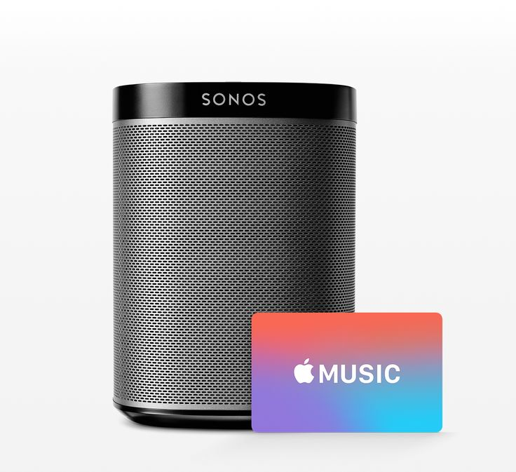 Sonos PLAY:1 Wireless Speaker with Apple Music Gift Card $199.95