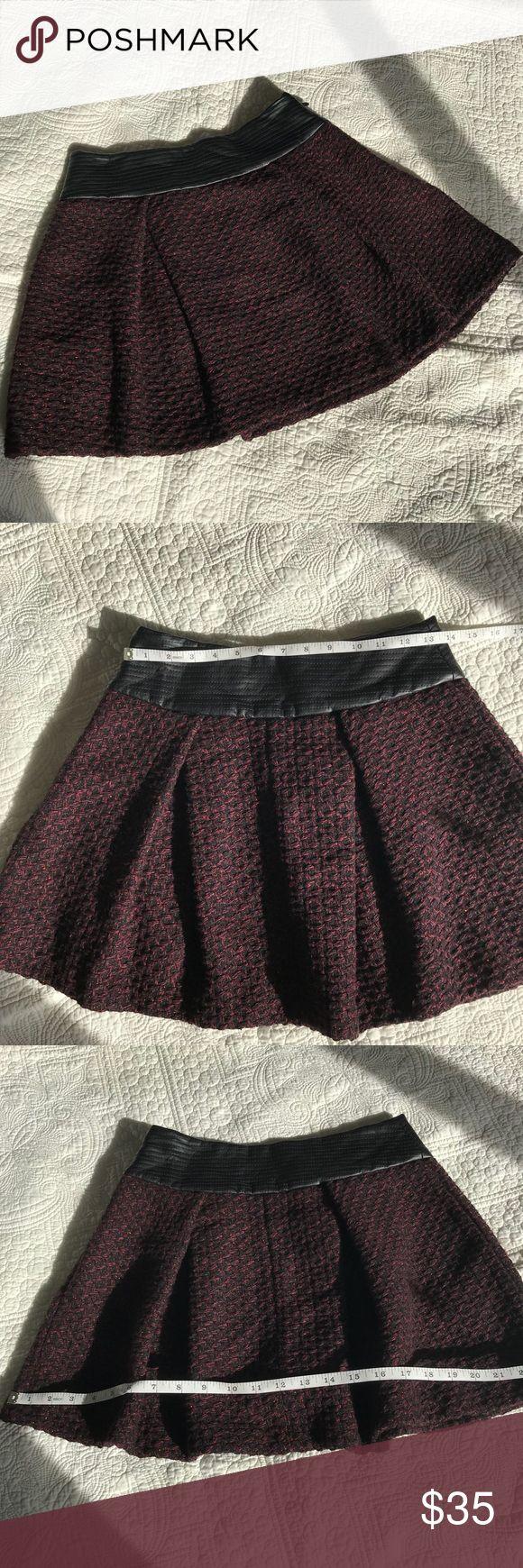 BCBG generations skirt. Maroon,black with gold flecks mini skirt with leather type waist. BCBGeneration Skirts Mini
