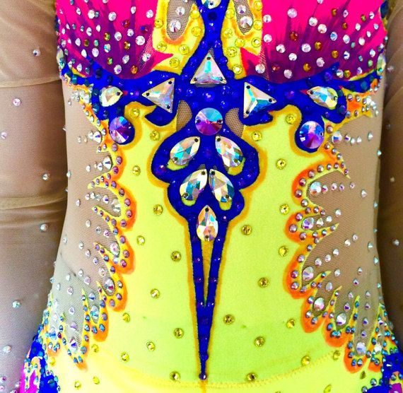 Competition Rhythmic Gymnastics Leotard by Savalia on Etsy