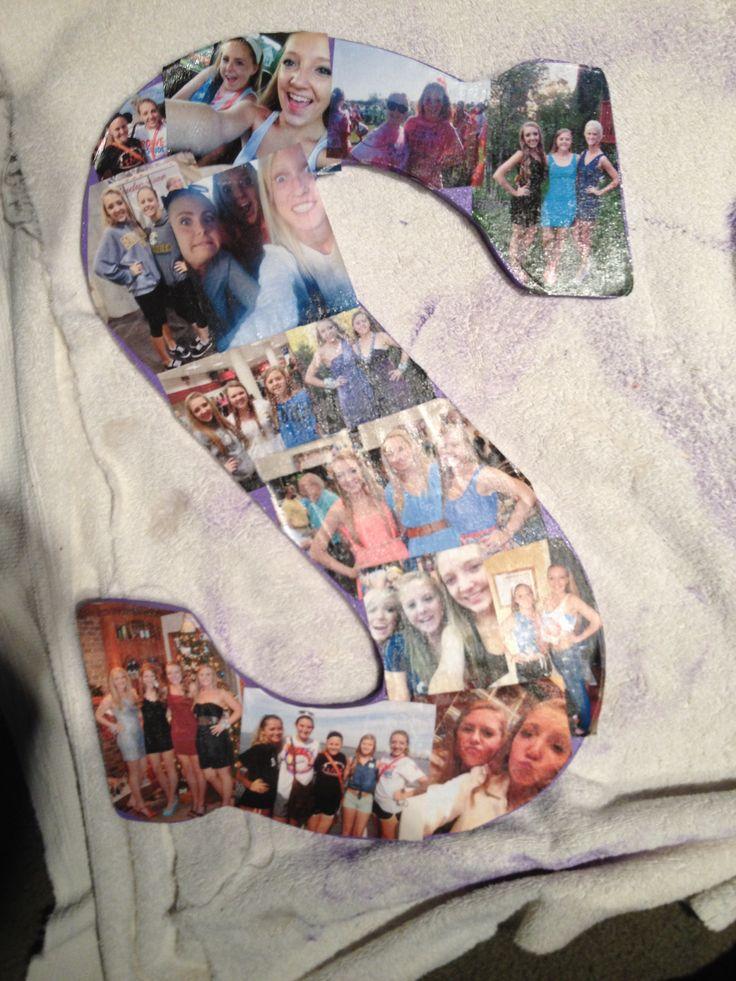 DIY letter photo collage! crafty diy Cutieeee