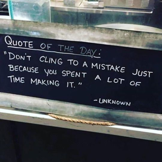 Even IF you spent a shit ton of time making it. It's done. Let it go. Move the fk on!