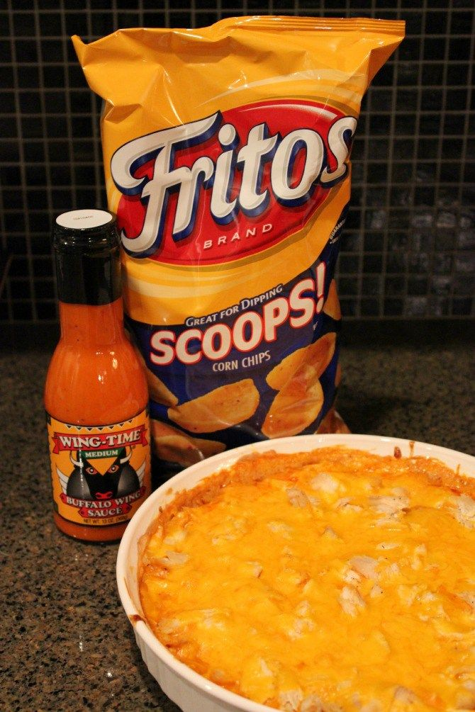 A great dip with chicken, buffalo wing sauce and cream cheese. Good to serve at football parties.