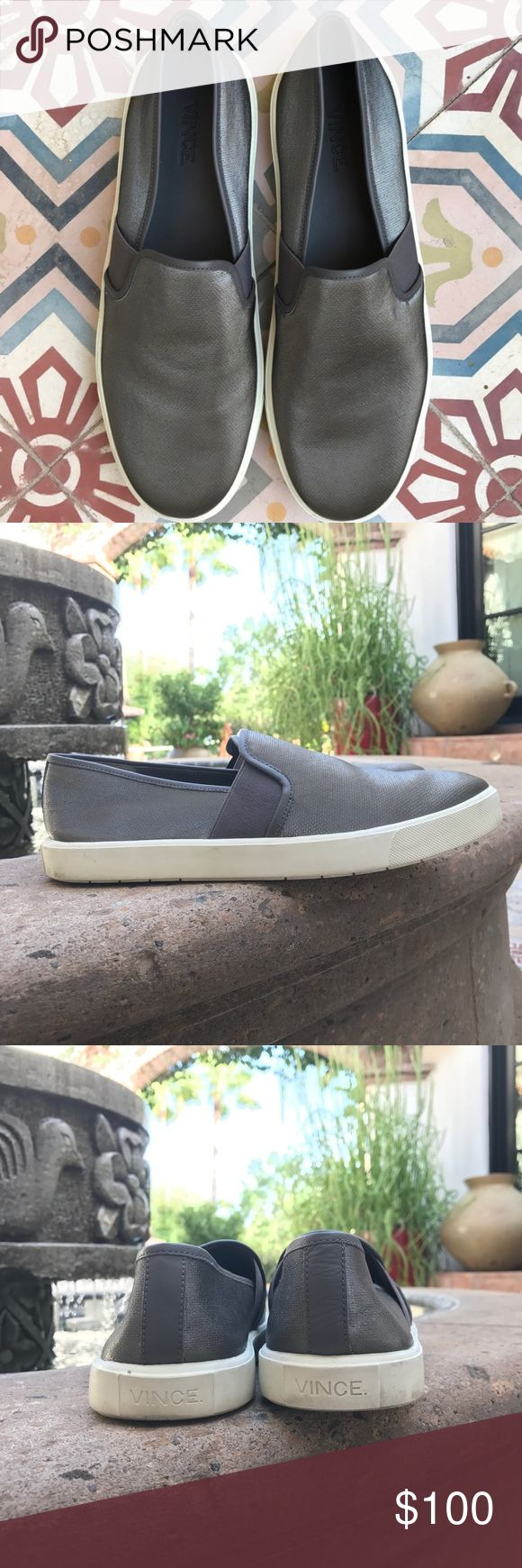 VINCE BLAIR SNEAKERS SLIP ON TENNIS SHOE SIZE 7 PRELOVED.  Excellent condition.  These are super popular and trendy.  Gorgeous and easy to wear.  BUNDLE AND SAVE. 🤗🤗🤗 Vince Shoes Sneakers