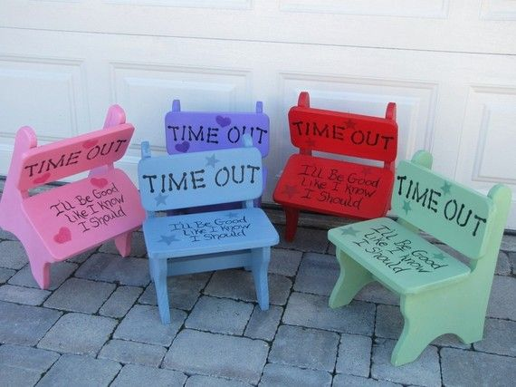 Time Out Chair...So cute, and SO necessary.  Wouldn't mind leaving this out in the time out corner of the hall.
