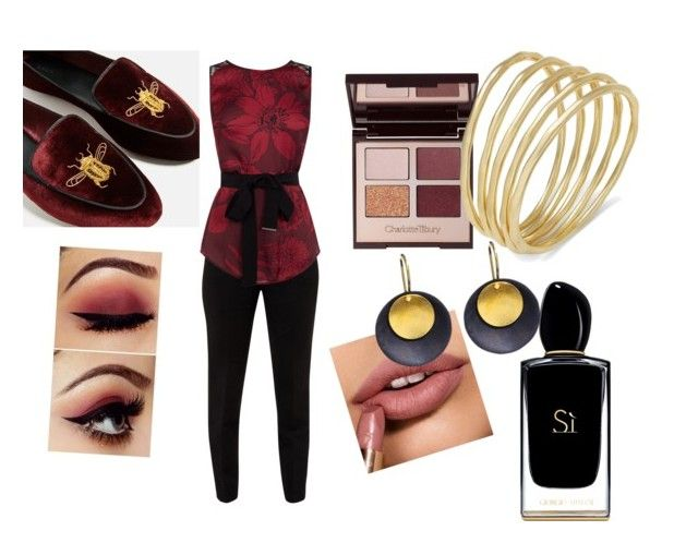 """Untitled #26"" by oana-grigorie on Polyvore featuring Ted Baker, Charlotte Tilbury, Hissia, Lauren Ralph Lauren and Giorgio Armani"