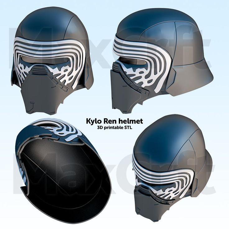 Kylo Ren helmet 3D-Printable
