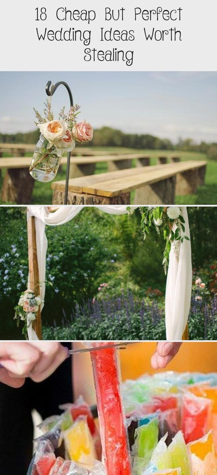 18 #Cheap But Perfect #Wedding Ideas Worth Stealing! #gardenweddingCenterpieces #Frenchgardenwedding #gardenweddingIdeas #gardenweddingSeating #Vintagegardenwedding
