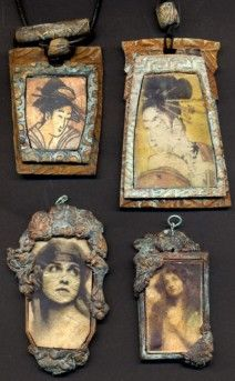 Gillian Allen I love this! I've signed up to take a workshop in transferring photographs to metal, which can be used in jewelry or mosaic creations. These are lovely.