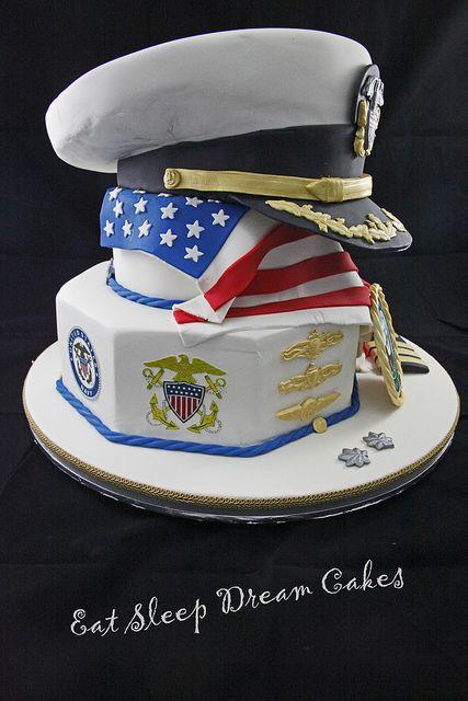 Navy Going Away Cake Ideas