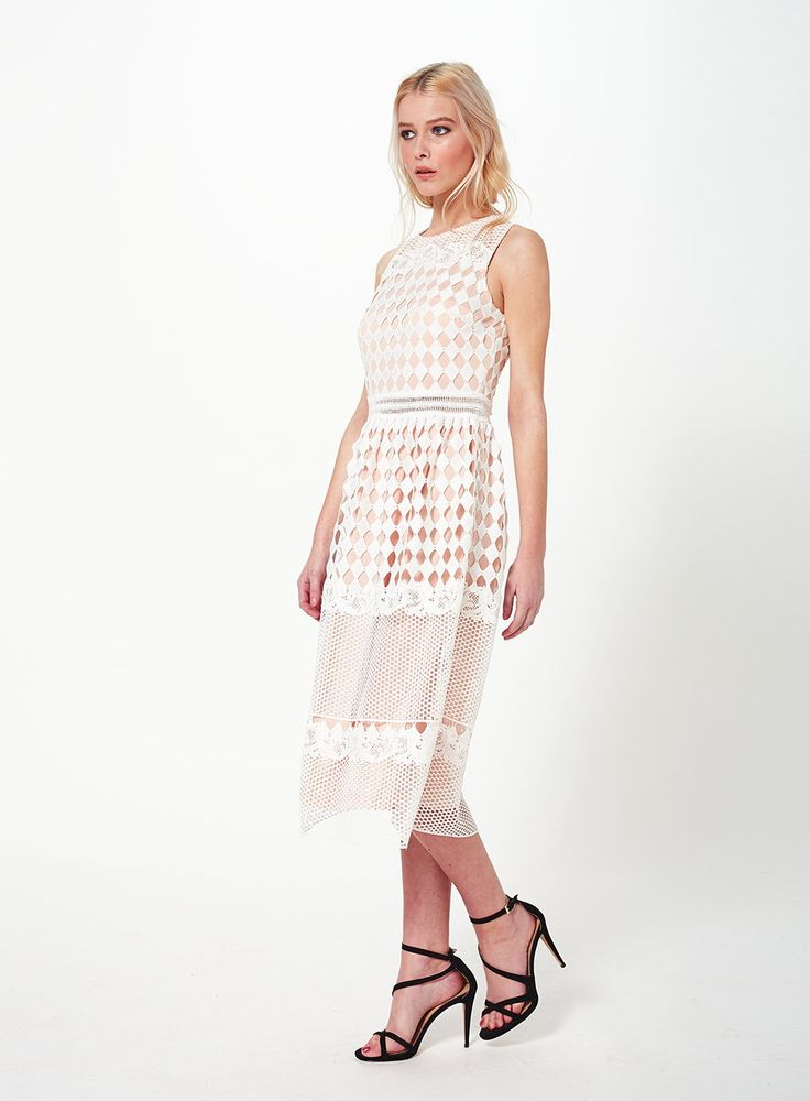 Photo 2 of Geo Lace Midi Dress