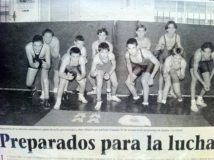 Wrestling. Seleccion Murciana de Lucha olimpica. 1995
