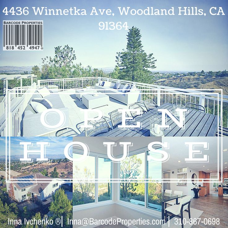 4436 Winnetka Ave, Woodland Hills , CA 91364 for sale. Open house!