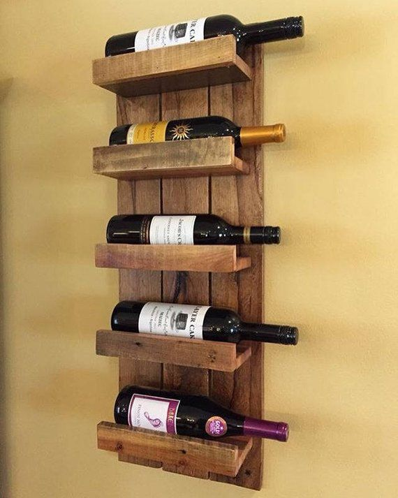 Wall Wine Rack Rustic Mounted Vintage Large Wi