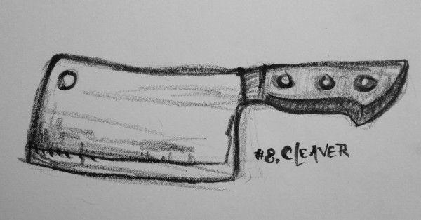 1,000 easy things to draw #8: a cleaver