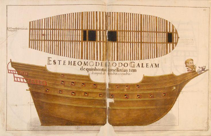 BA 52-XIV-21 fl_88 - Manuel Fernandes (fl. 1616) - «Livro de traças de carpintaria com todos os modelos e medidas para se fazerem toda a navegação, assy d'alto bordo como de remo...». 1616. Manuscrito. Cota: Biblioteca da Ajuda, Inv. 52 – XIV - 21